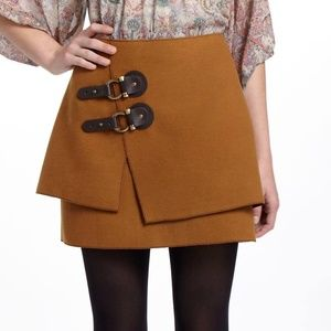 Anthropologie Buckled Felt Skirt Meadow Rue 6